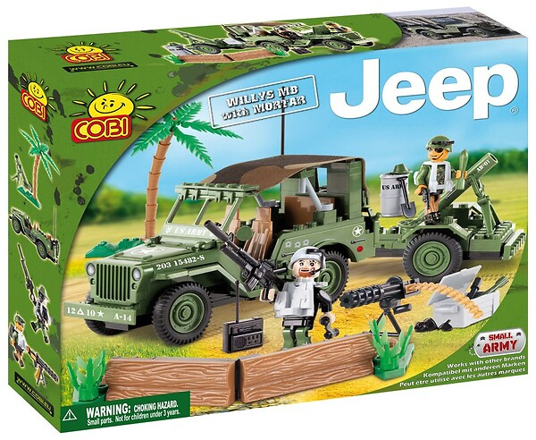 Jeep Willys MB with Mortar Cobi 24200