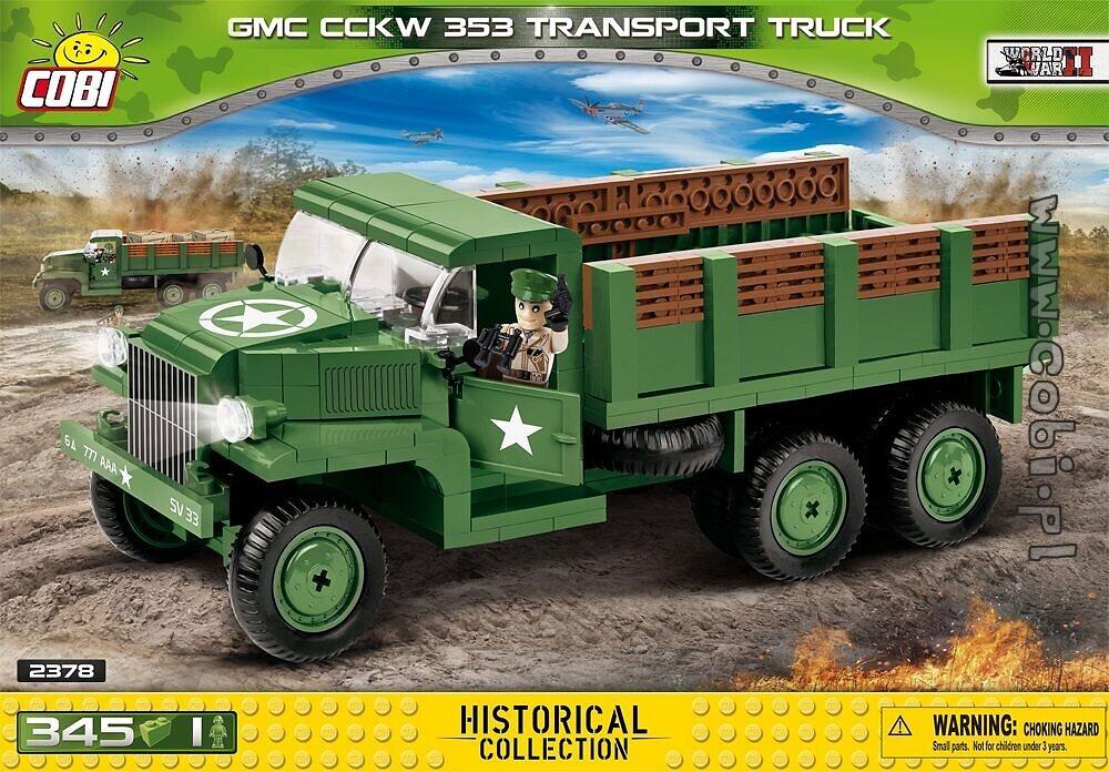 Amerikanischer LKW COBI 2378 Baukästen & Konstruktion GMC CCKW 353 Transport Truck