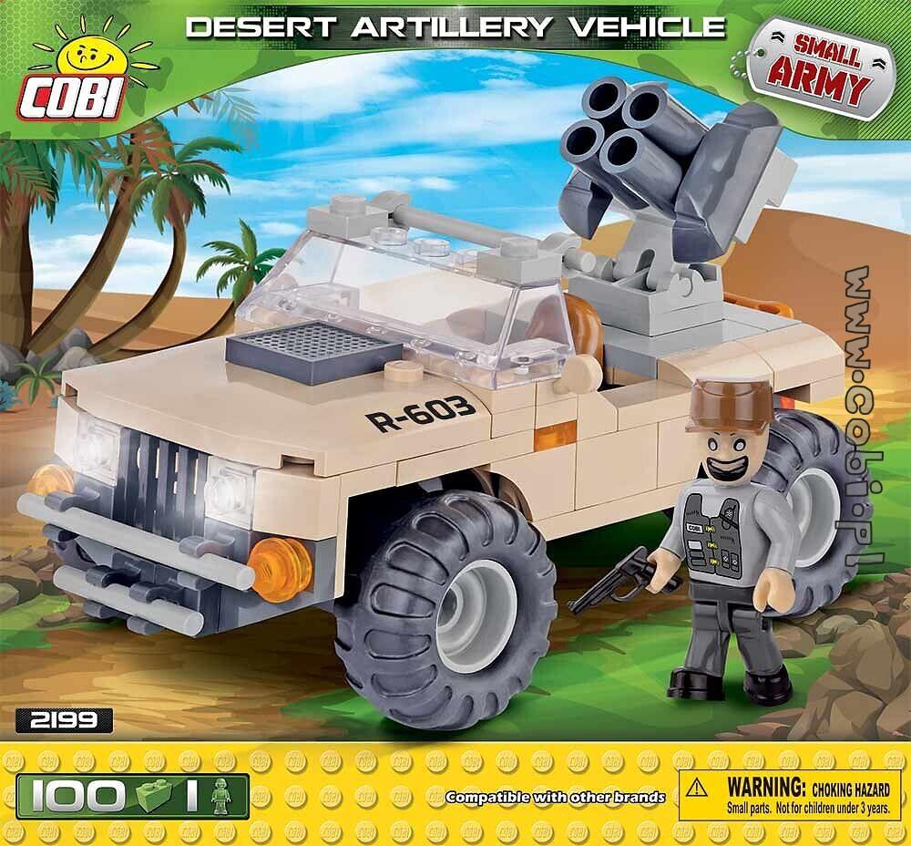 Cobi Kleine Armee Wüste Artillerie Fahrzeugbausatz 100-teilig 2199