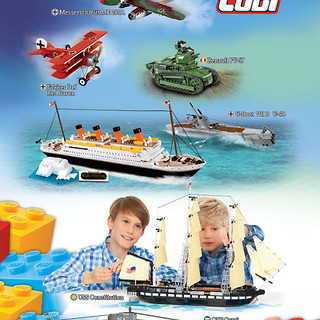 New catalog of Cobi blocks 2/2018