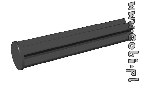 Single-sided 25 mm pin hole, black