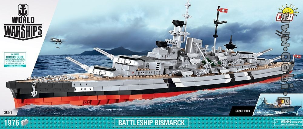 Battleship Bismarck Limited Edition World Of Warships Cobi Toys Internet Shop