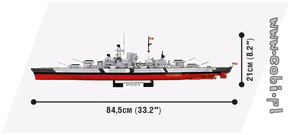 Baukästen & Konstruktion Cobi 3081 Battleship Bismarck
