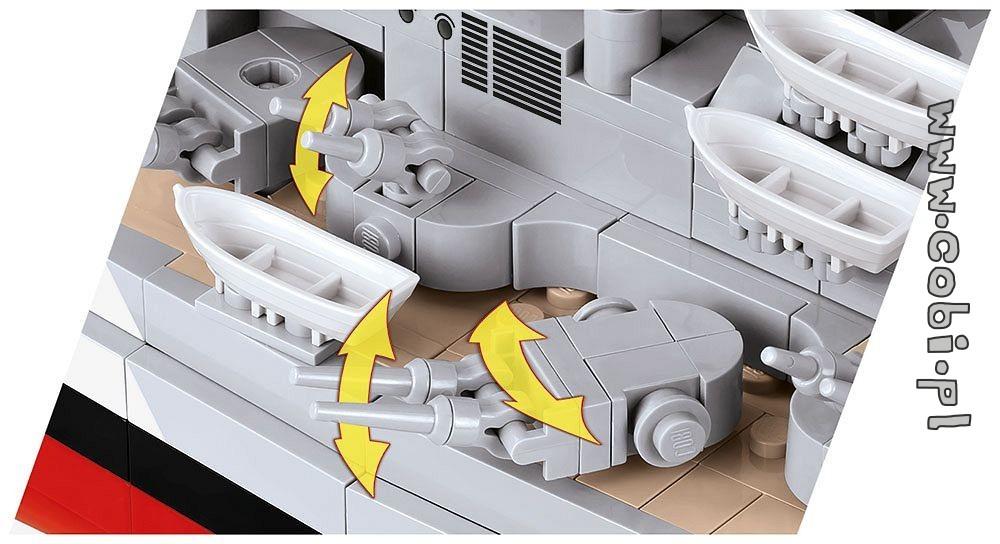 Cobi 3081 Battleship Bismarck Baukästen & Konstruktion