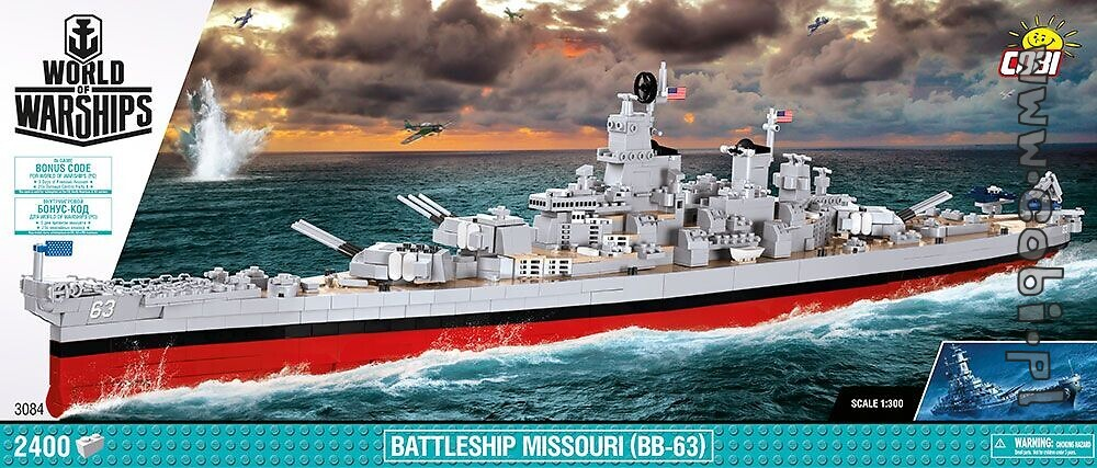 Battleship Missouri (BB-63) - World of Warships - Cobi toys: internet shop