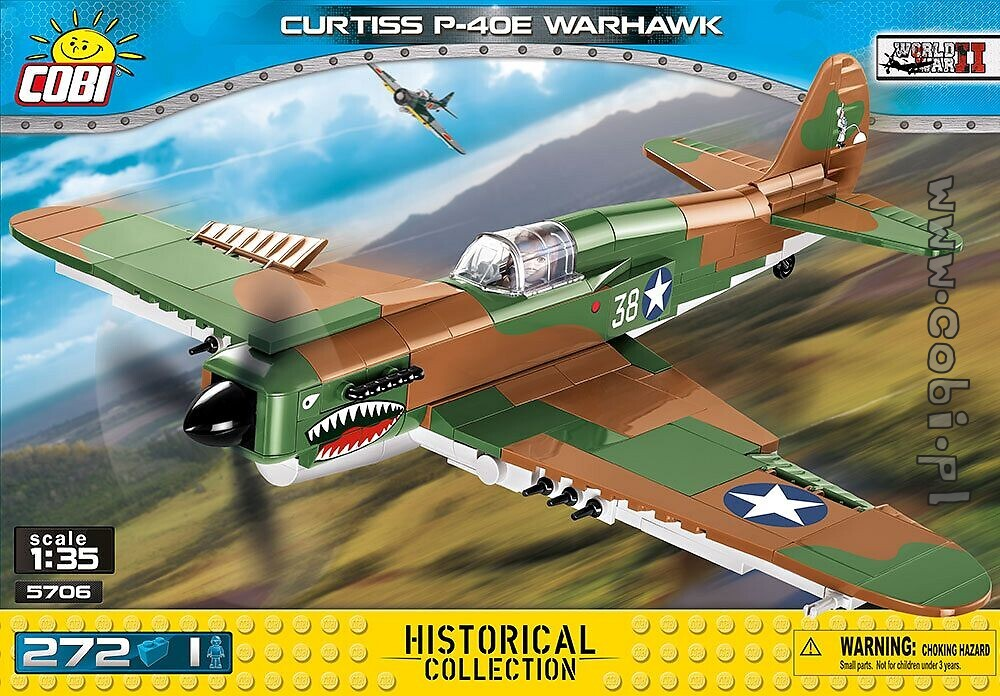 COBI Historical Collection Curtiss P-40E Warhawk Plane