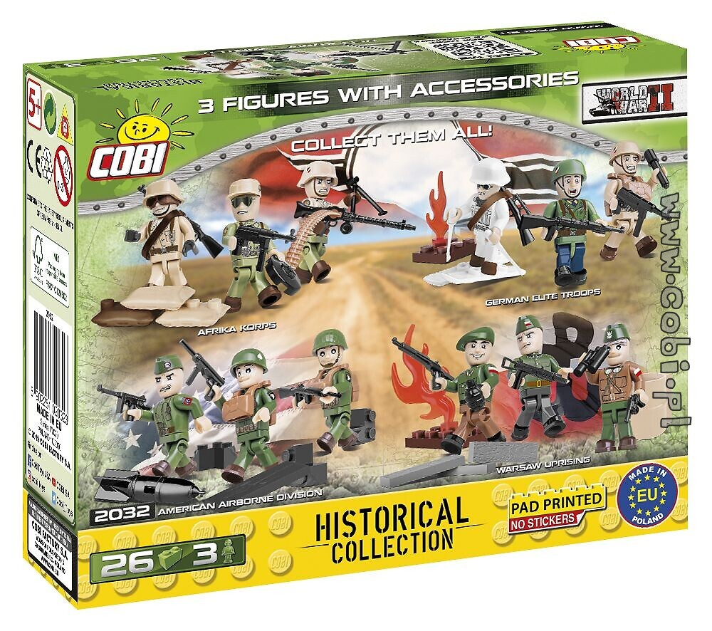 COBI construction toy soldiers in uniforms from WWII