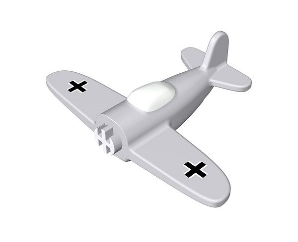 Airplane with print 1:300