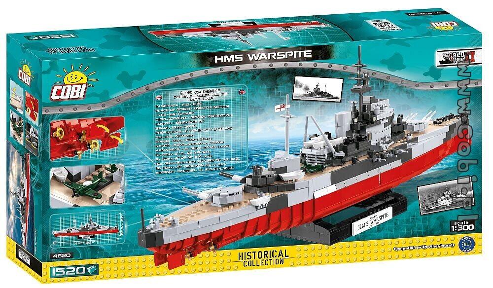 Cobi 4820 HMS Warspite Historical Collection World War II 1520 Teile