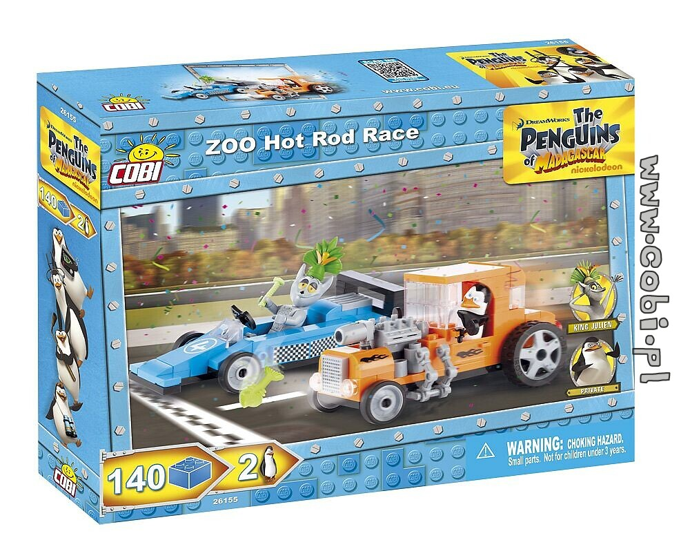 Zoo Hot Rod Race - Penguins of Madagascar - for kids {%wiek%} | Cobi ...