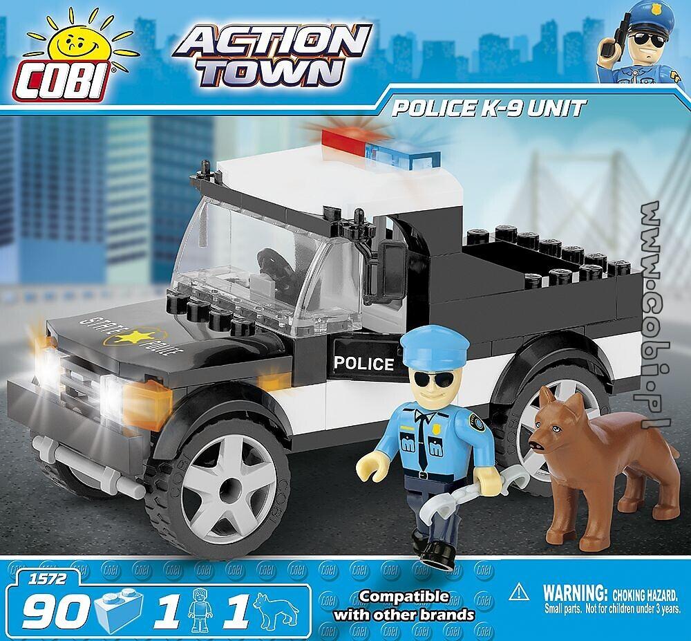 police k 9 unit action town for kids wiek cobi toys