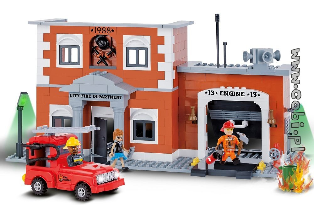[Produkt Archiwalny] City Fire Department   Action Town   For Kids {%wiek%}    Cobi Toys