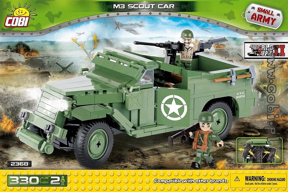 M3 Scout Car - WW2 Historical Collection - for kids 5 | Cobi Toys on