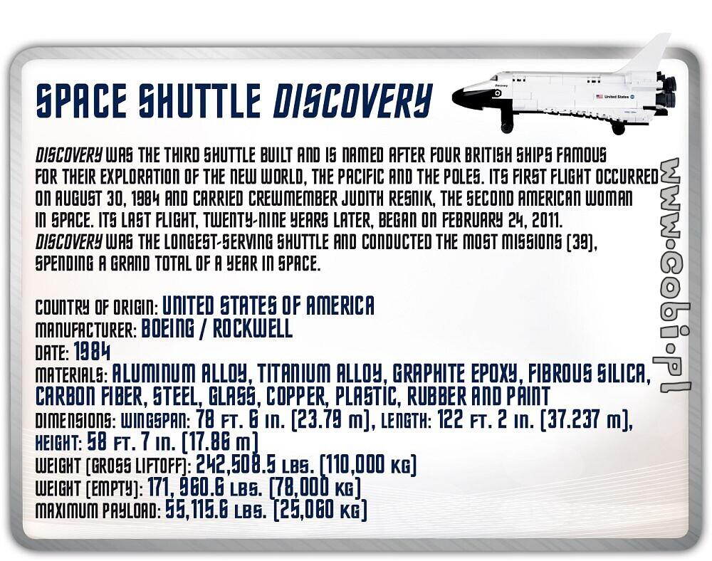 space shuttle discovery smithsonian for kids wiek cobi toys