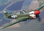 Curtiss P-40B Tomahawk cz.4/4 WW2 Aircraft Collect. No. 18