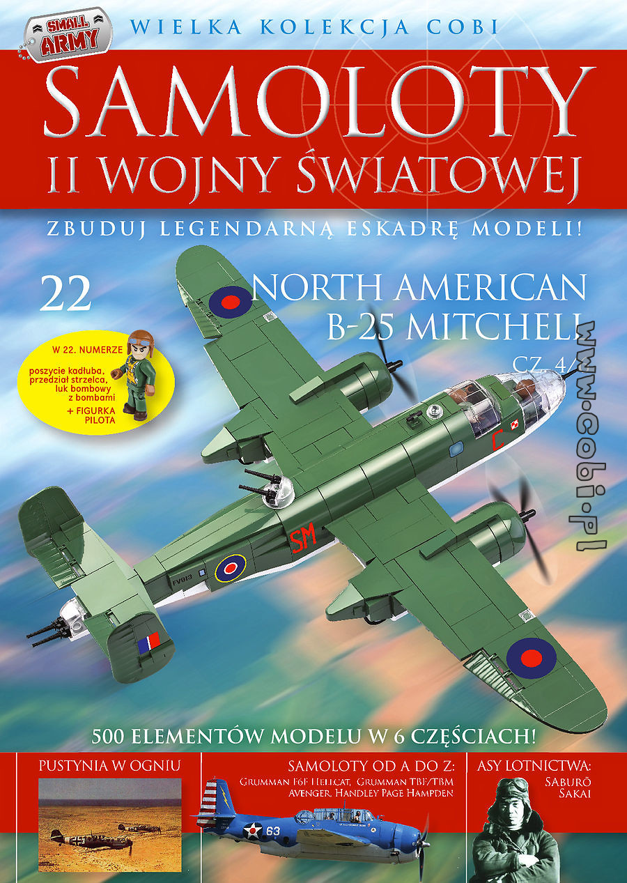 North American B-25 Mitchell cz.4/6 WW2 Aircraft Collect. No. 22
