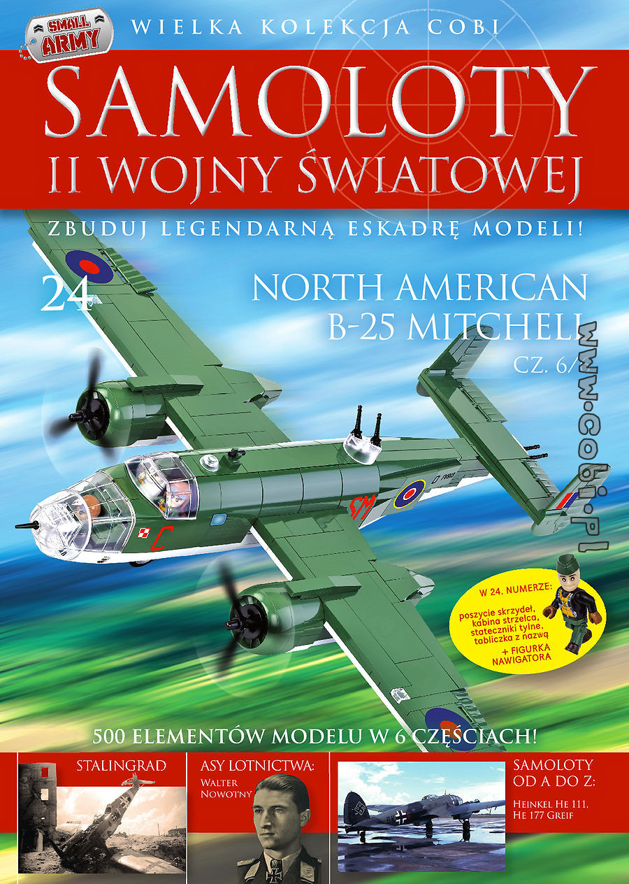 North American B-25 Mitchell cz.6/6WW2 Aircraft Collect. No.24