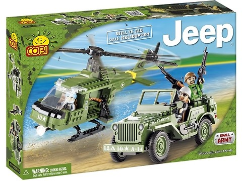 Jeep Willys MB z Helikopterem