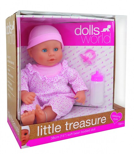 Lalka Bobas Little Treasure Dolls World 38 cm