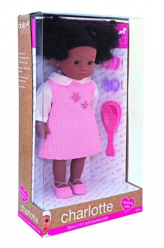 Lalka Charlotte Black Dolls World 36 cm