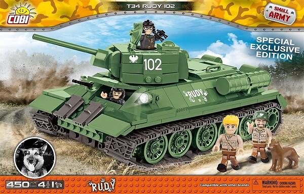 Mała Armia WW2 T-34 Rudy 102