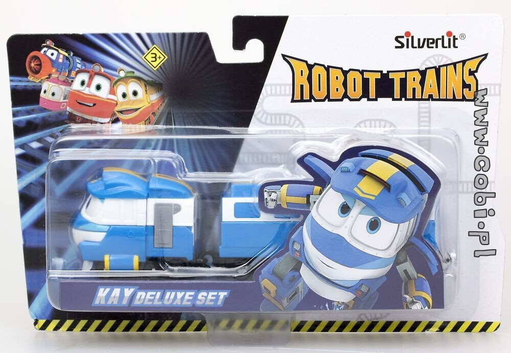 Pojazd z wagaonikami  Deluxe Kay Robot Trains