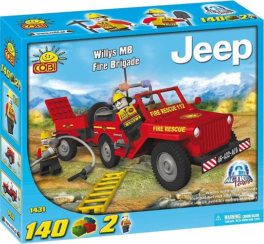 Jeep Willys MB Brygada Strażacka - Action Town COBI-1431