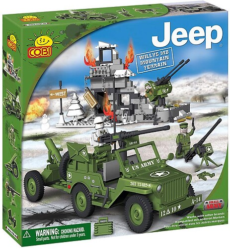 Jeep Willys MB Mountain Terrain Small Army Cobi 24301
