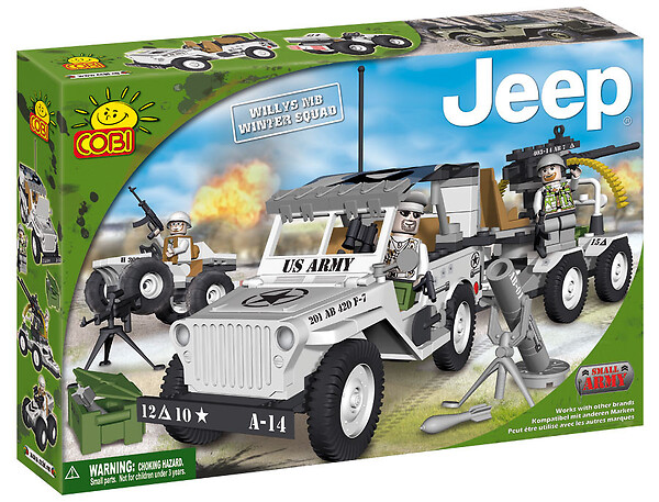 Jeep Willys MB Winter Squad Small Army Cobi 24250