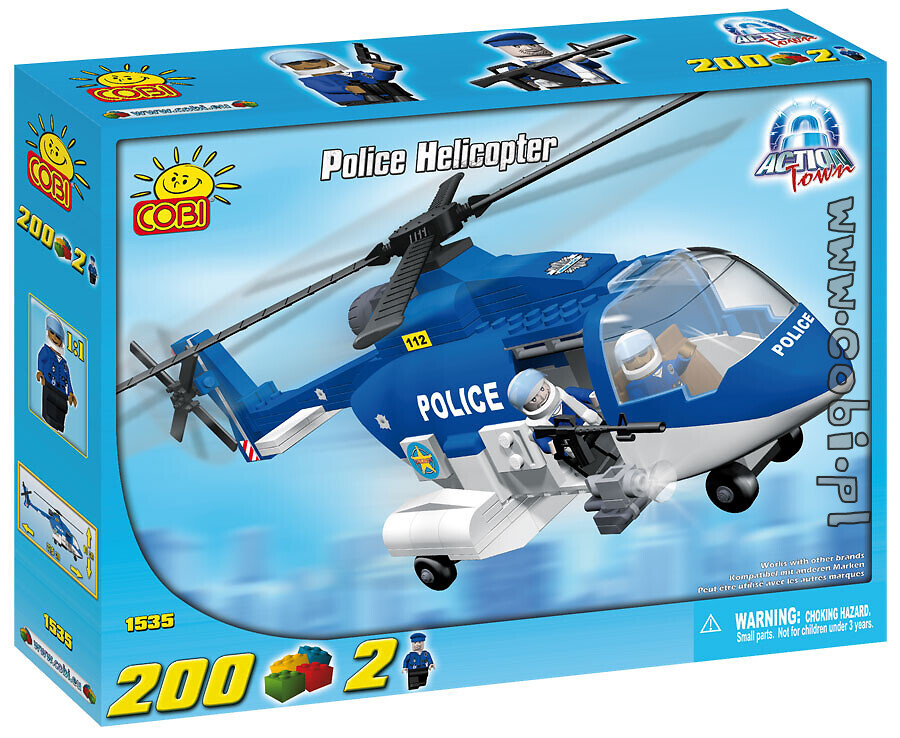 Helikopter policyjny Action Town Cobi-1535