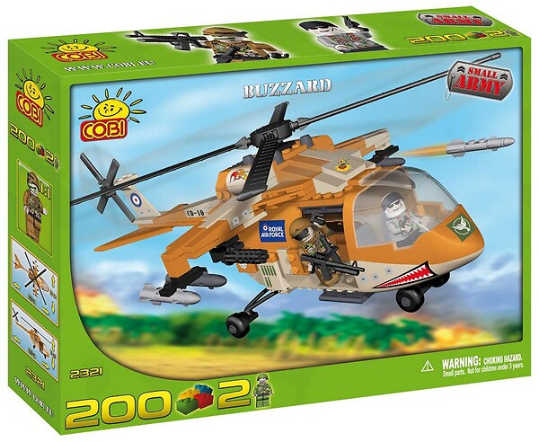 Buzzard - helikopter Small Army Cobi 2321