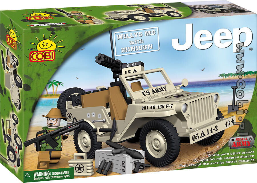 Jeep Willys Mb with  Minigun Small Army Cobi 24113