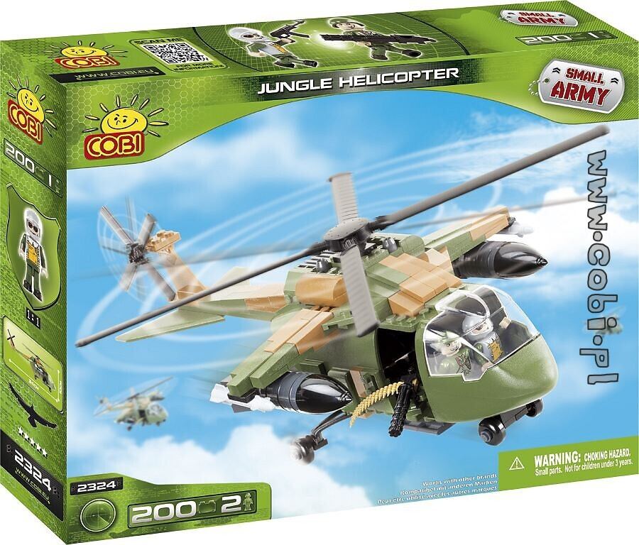 Jungle Helicopter Small Army Cobi-2324