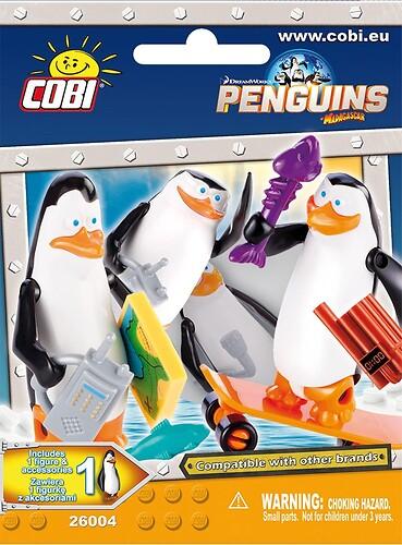Pingwiny z Madagaskaru Figurka niespodzianka z akcesoriami s2