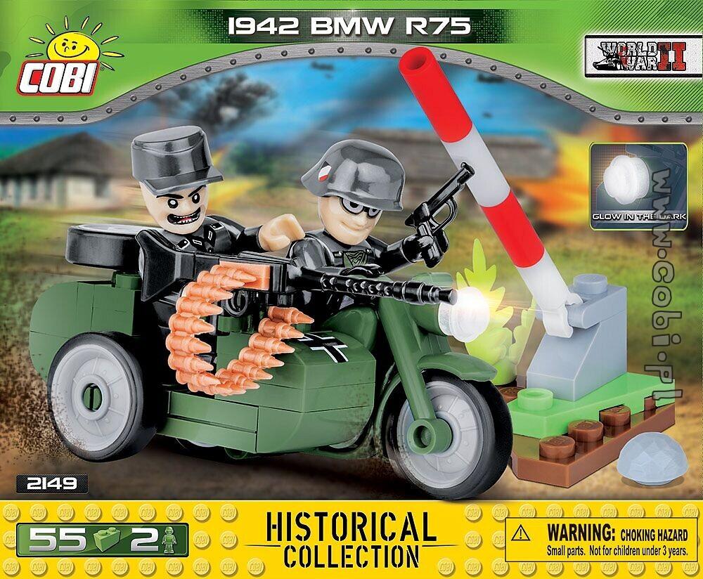 Bmw R75 1942 Motocykl Z Bocznym Wózkiem Mała Armia Ww2 Klocki