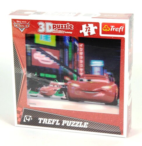 Cars 3D puzzle with visual echo technology 72 el.
