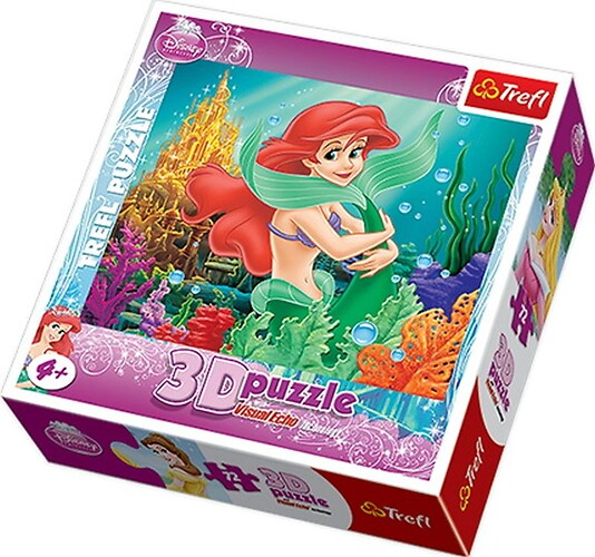 Princess 3D puzzle with visual echo technology