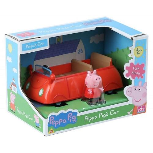 Świnka Peppa Auto Peppy + Figurka