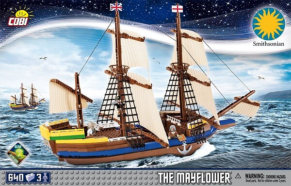 Klocki Pilgrim Ship Mayflower