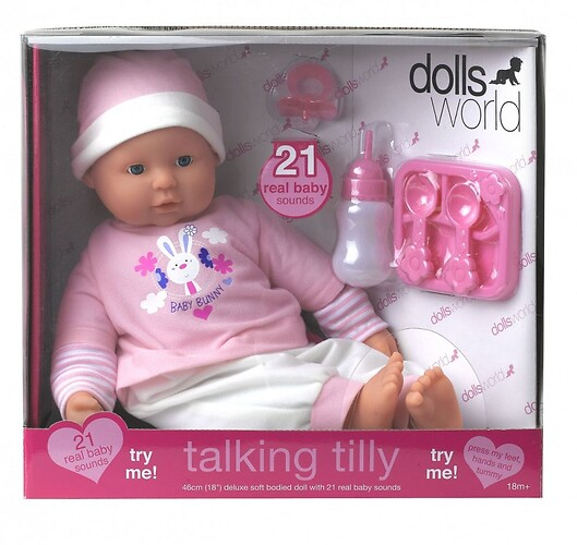 Lalka Bobas Talking Tilly Dolls World 46 cm