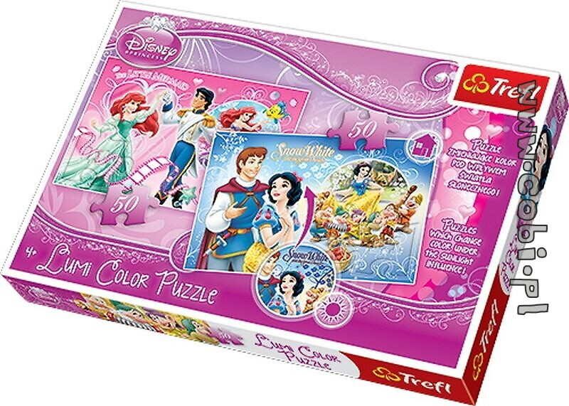 Puzzle Lumi Color -  Princess 50 el.