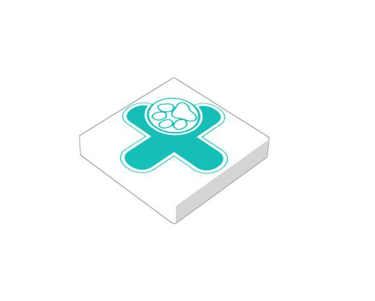 2x2 1/3 płaski - wet logo