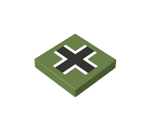 2x2 1/3 p³aski - krzy¿ niemiecki