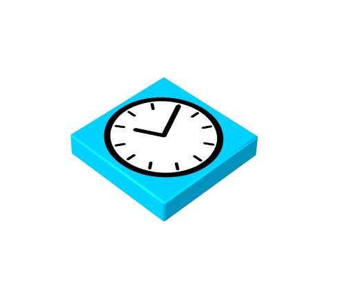 2x2 1/3 p³aski - clock
