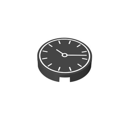 2x2 1/3 okr±g³y p³aski - zegar