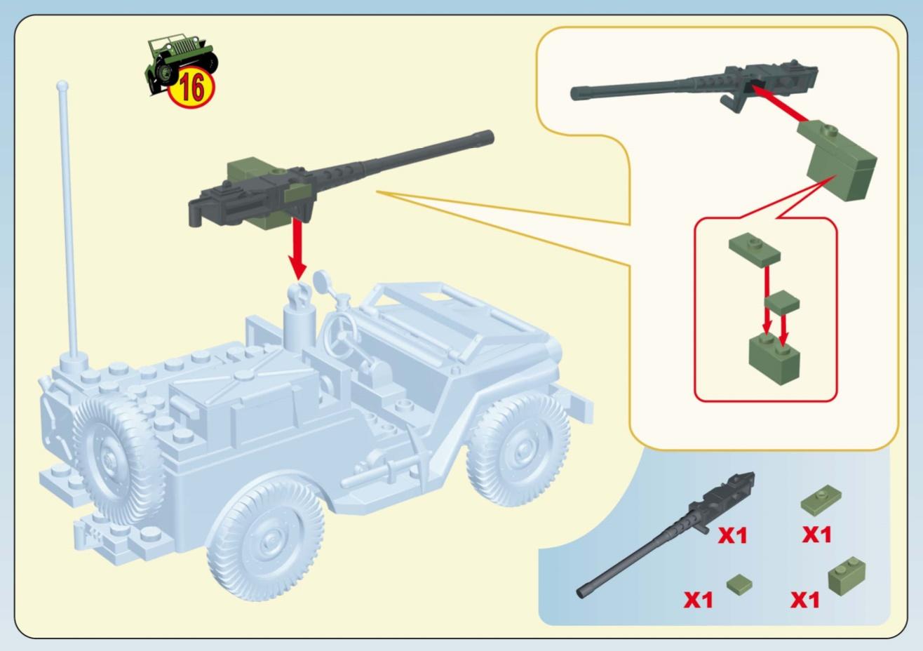 Jeep Willys Mb Mountain Terrain Cobi 24301 Instruction
